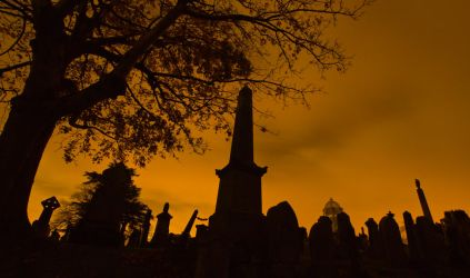 Night Time Cemetery by BusterBrownBB