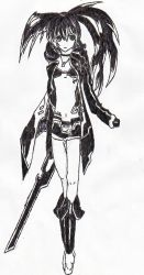 Black Rock Shooter EpicDrawing by vocaloid2sim