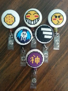 Anime inspired ID Badges by Sew-Madd