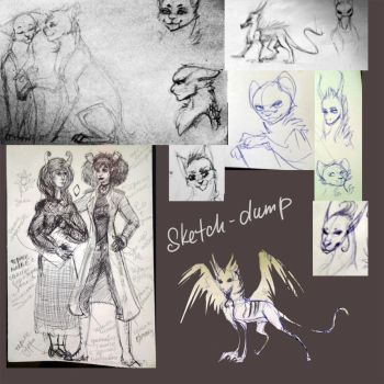 What time is it ?  It's time for sketches dump! by Aleksandra-Cat