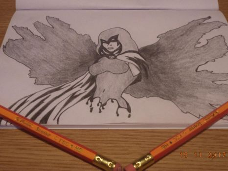 Raven drawing by me by naruXhinata