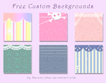 Free BG for Custom box pack by Neko-Rina