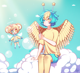{Collab} Bubbly Sky by Yumelee
