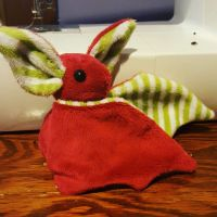 [Sold] Christmas Bat Plushie by Slothie-Studios