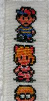 Earthbound bookmark by GamingBitCrossStitch