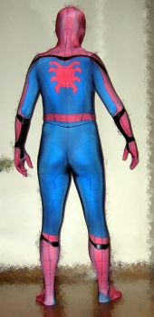 MCU Civil War Homecoming Spider-man costume (back) by rubbermask