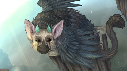 Basking in the Sun - Trico - The Last Guardian by Choco-Floof