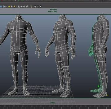 lowpoly_male body by mrinalrockzs