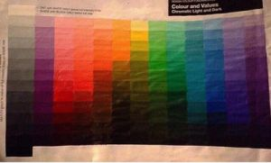 Hand Mixed and Painted Colour Chart by animaddict