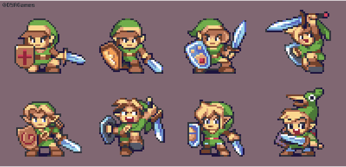 Legend of Zelda - Link Designs by AlbertoV