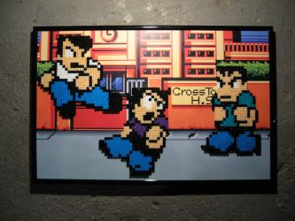 Perler River City Ransom by Dlugo1975