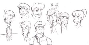 Face Sketches by GeorgeRottkamp