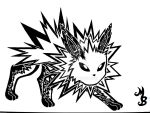Jolteon Tattoo tribal by Exenne