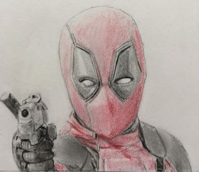 Deadpool with a gun by CaptainEdwardTeague