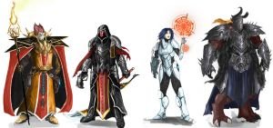 Galefire Character designs by Michael-Galefire