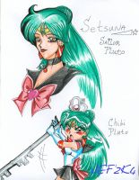 Sailor Pluto chibi DS attack by alaer