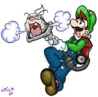 Luigi's mansion: Vacuum mishap by Opiums-Opiates