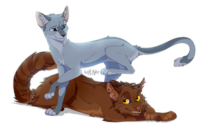 Bluefur and Oakheart by Alder-Leaf