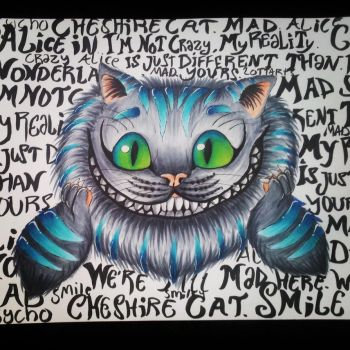 Cheshire cat by Lottarts