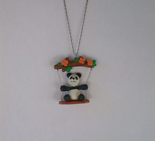Panda on a swing necklace by MariC217