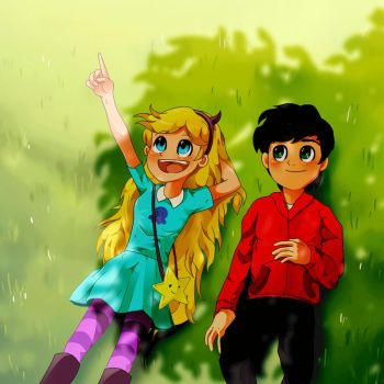 Star Butterfly and Marco Diaz by markmak