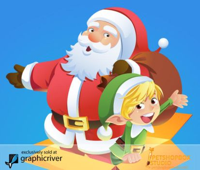 Santa And Elf by petshop-studio