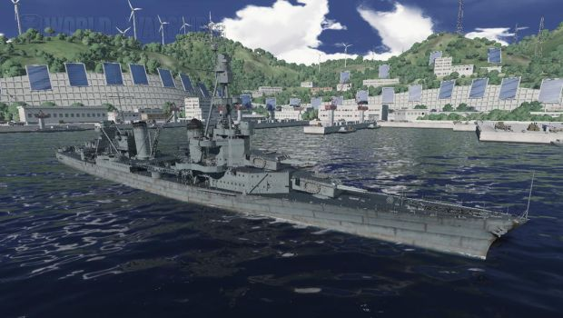 USS Pensacola in port by 62guy