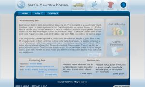 AmysHelpingHands.com Concept by Axertion