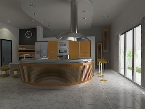 Kitchen in the afternoon by robihartono
