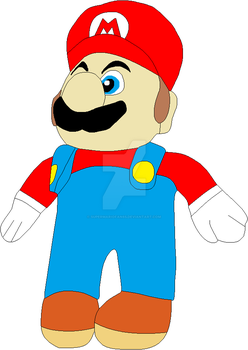 Super Mario - Mario Plush by SuperMarioFan65