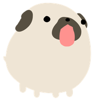 Pug by clunse