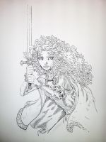 Brave - Merida 3/4 - final inks by dreamflux1