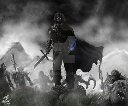 Middle Earth Shadow of Mordor (Speedpaint) by RaquelBC