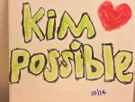 Kim possible with a heart on  tile by montrain101
