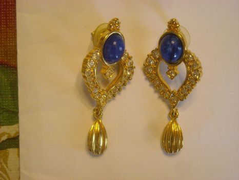 Saphire Earings by donnyjrmail-stock