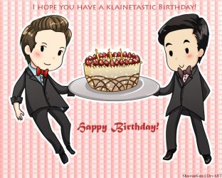 Klaine - B-Day Card - Glee by ShaoranKun
