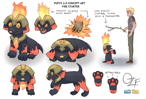 Fakemon Fate and Will: Pupyx 2.0 Concept Art by OzoneFruit