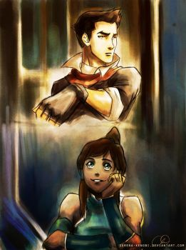 Where Have You Been - Korra and Mako by ChristyTortland