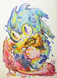 Toxic Sonic by bossquibble