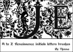 Renaissance letters brushes by visualjenna