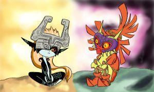 The Legend of Zelda: Midna and Skull Kid by Grantake