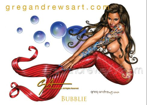 BUBBLIE Fantasy Sexy Mermaid Art Greg Andrews Arti by HOT-FINS-MERMAIDS