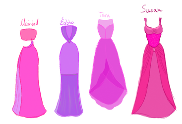 Pink CW dresses by xXLionqueenXx