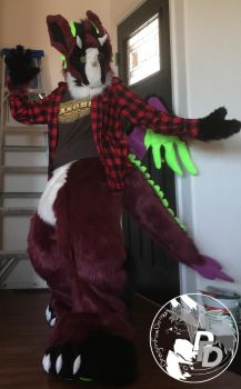 Fursuit Boysenberry 2017 by DragonFoxDemon