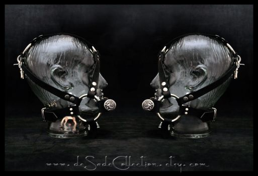 Head Harness W Horse Bit Gag by deSadeCollection