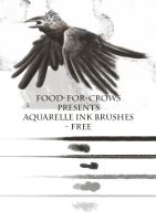 Aquarelle Ink Brushes - Free by Food-For-Crows