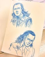 Doodle of the day: Loki expressions by Cris-Nicola