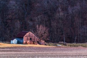 Winter Barn by PompatusOfLove