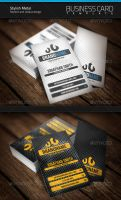 Stylish Metal Business Card by artnook