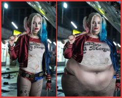 Heavy Harley Quinn Before and After by Cerebral-probe